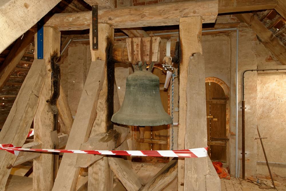 Die Glocke der Kirche in Wegezin