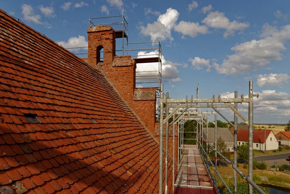 Noch eine Dachansicht Richtung Osten