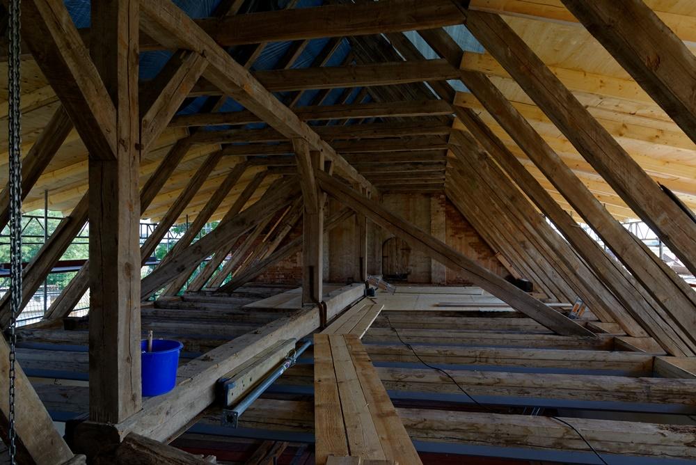 Der Dachstuhl der Wegeziner Kirche!