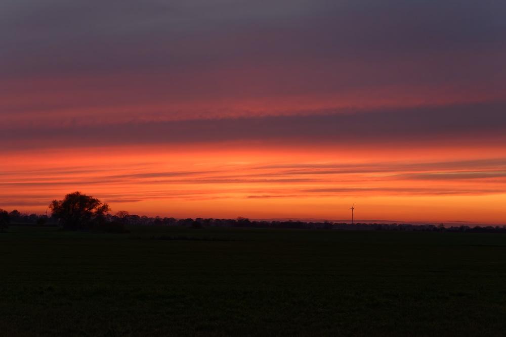 Sonnenuntergang in Wegezin