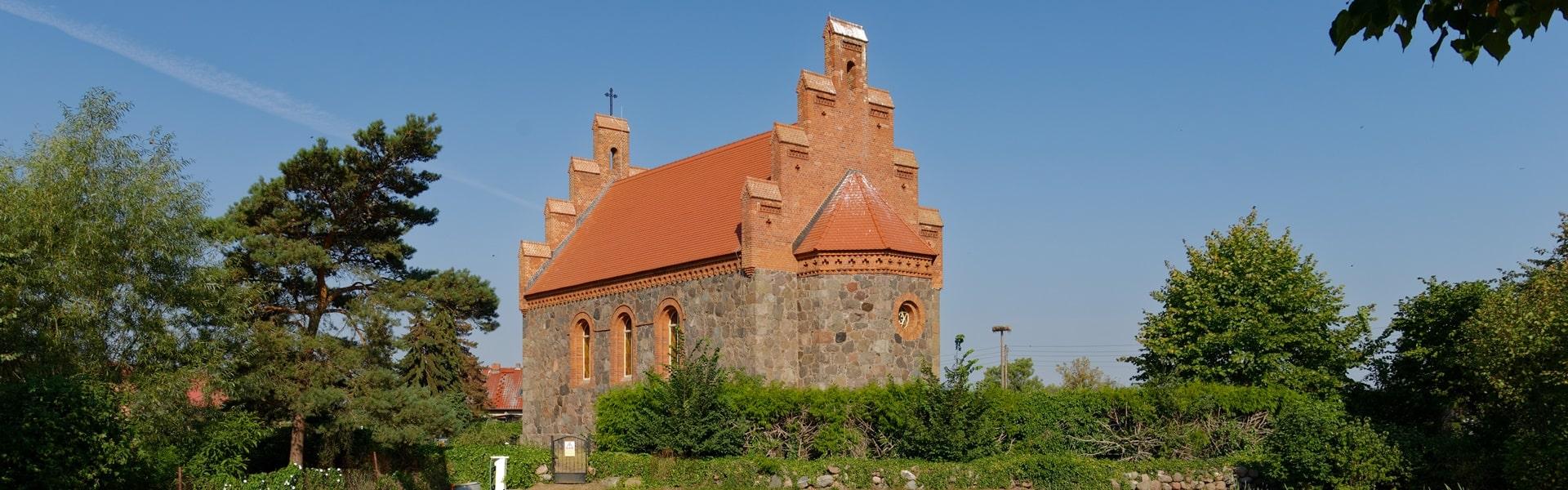 Evangelische Kirche in Wegezin am 16. August 2020