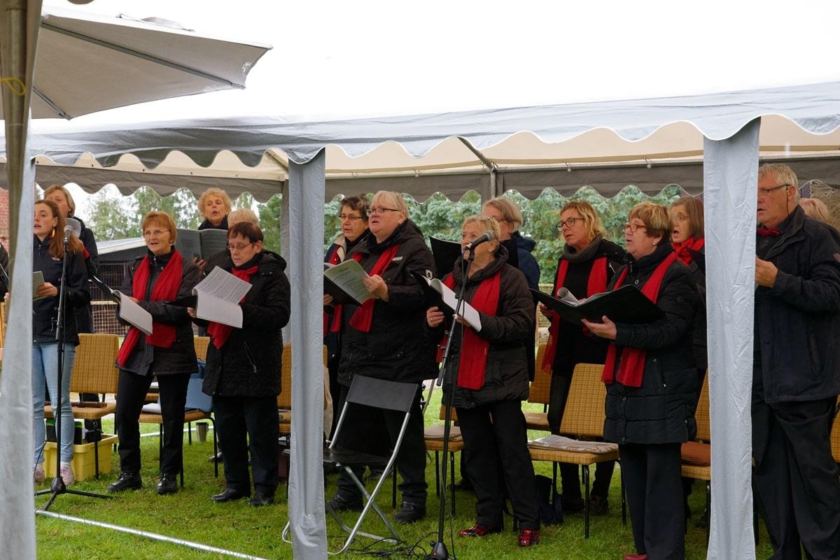 Der Kirchenchor des Kirchengemeindesverbandes Krien in Wegezin