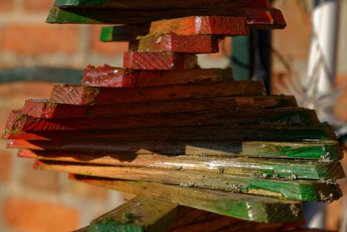 Holzspindel 24